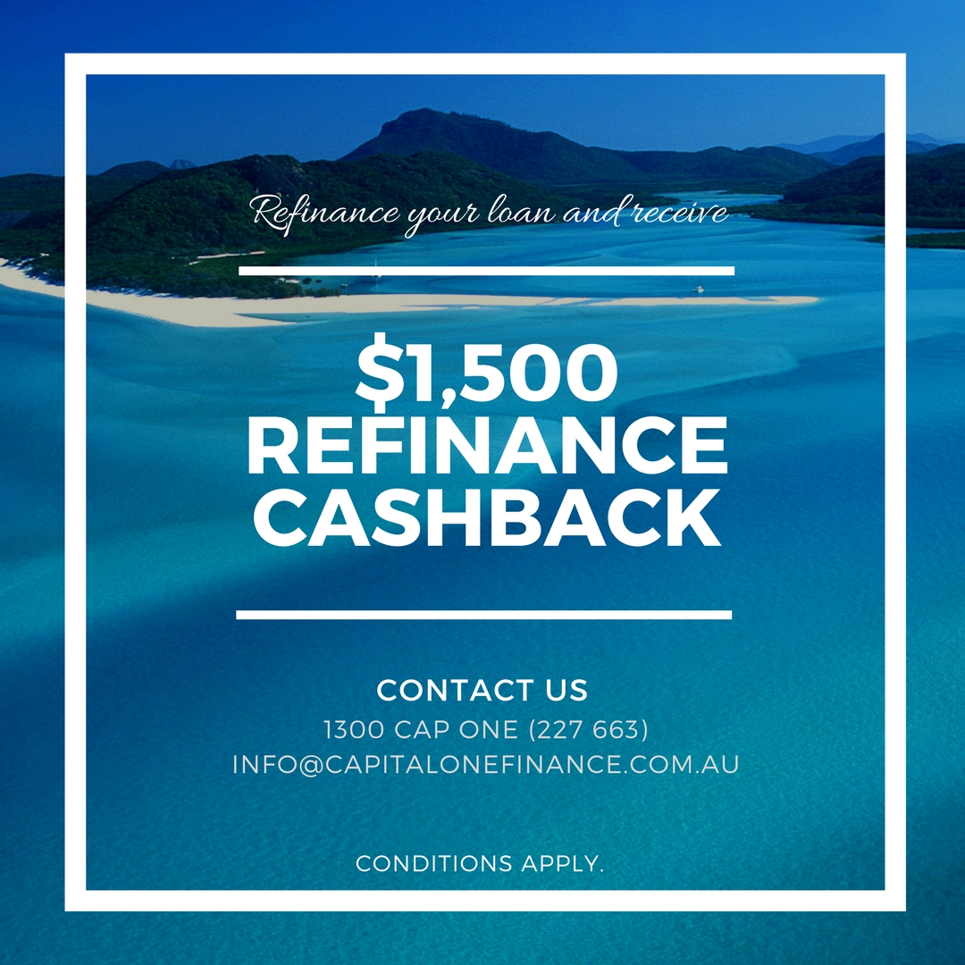 $1500 cash back on home loan refinance